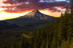 Beautiful Vista of Mount Hood in Oregon, USA. Stock Image