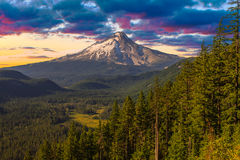 Beautiful Vista of Mount Hood in Oregon, USA. Stock Photos