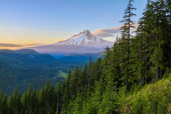 Beautiful Vista of Mount Hood in Oregon, USA. Royalty Free Stock Photography