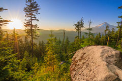 Beautiful Vista of Mount Hood in Oregon, USA. Royalty Free Stock Photos