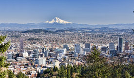 Beautiful Vista of Portland, Oregon Royalty Free Stock Photo