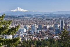 Beautiful Vista of Portland, Oregon stock photo