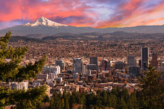 Beautiful Vista of Portland, Oregon Stock Images