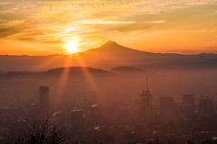 Beautiful Vista of Portland, Oregon Royalty Free Stock Photography
