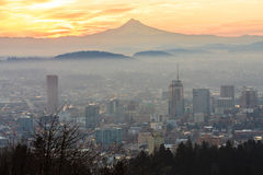 Beautiful Vista of Portland, Oregon Royalty Free Stock Images