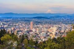 Beautiful Vista of Portland, Oregon Royalty Free Stock Photos