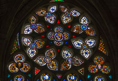 Beautiful Vitrage In Carcassone Cathedral Stock Photos