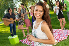 Beautiful vivacious teenage girl Royalty Free Stock Images