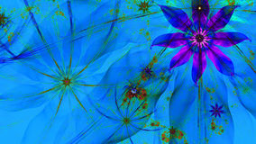 Beautiful vivid glowing modern flower background in green,pink,red,blue colors Stock Photos