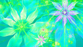 Beautiful vivid shining modern flower background in green,pink,purple,yellow colors Stock Photography
