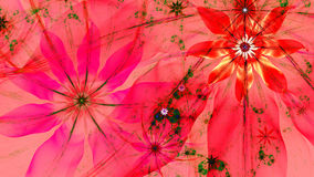 Beautiful vivid shining modern flower background in green,pink,red,yellow colors. Beautiful modern high resolution flower background with a detailed flower royalty free illustration