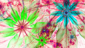 Beautiful vividly colored modern flower background in green,pink,blue colors Royalty Free Stock Photo