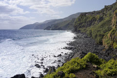 Beautiful volcanic coast line of La Palma Stock Images