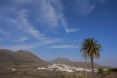 The volcanic landscape of lanzarote Royalty Free Stock Image
