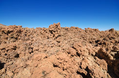Beautiful volcanic landscape in Teide national park, Tenerife canary islands, Spain. Royalty Free Stock Image