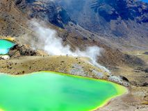 Beautiful volcanic landscapes in New Zealand Royalty Free Stock Image