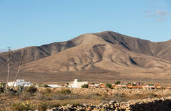 Beautiful volcanic mountains on  Fuerteventura. Royalty Free Stock Images