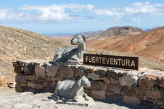 Beautiful volcanic mountains on  Fuerteventura. Stock Photos