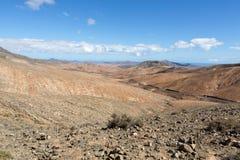 Beautiful volcanic mountains on  Fuerteventura. Royalty Free Stock Photography
