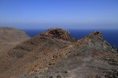 Beautiful volcanic mountains . Panoramic view on Fuerteventura Stock Photography