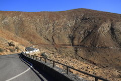 Beautiful volcanic mountains . Panoramic view on Fuerteventura Stock Photo