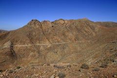 Beautiful volcanic mountains . Panoramic view on Fuerteventura Stock Image