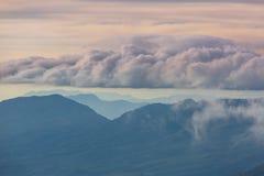 Volcano in El Salvador. Beautiful volcano in Cerro Verde National Park in El Salvador at sunset Stock Photography