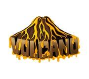 Beautiful volcano sign. Royalty Free Stock Photo