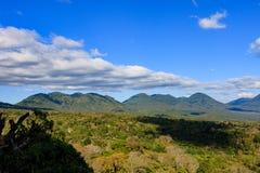 Beautiful volcanos in Cerro Verde National Park in El Salvador. Volcano scenery in Central America stock image