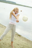 Beautiful volleyballer Royalty Free Stock Photo