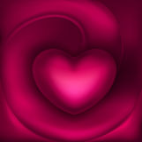 Beautiful volumetric heart Stock Photos