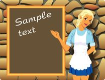 Beautiful waitress Royalty Free Stock Photography