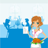 Beautiful Waitress Stock Photo