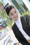 Beautiful waitress Royalty Free Stock Image