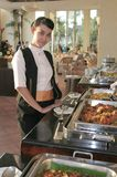 Beautiful waitress Royalty Free Stock Images