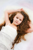 Beautiful waking-up girl Royalty Free Stock Photography