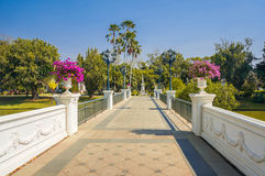 Beautiful walk way in bang pa-in palace Stock Images