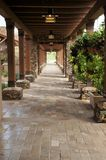 Beautiful Walkway with Arbor royalty free stock photo