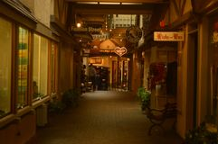 Beautiful Walkway In A Store Gallery In Carmel By The Sea. Travel Holidays Architecture royalty free stock photos