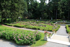 Beautiful walkways,fountains and rose gardens,Yaddo Gardens,Saratoga Springs,New York,2013 Royalty Free Stock Image