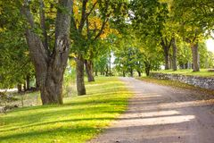 Beautiful walkways Stock Image