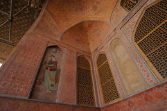 Beautiful wall of Ali Qapu Palace in Isfahan, Iran. Stock Photo