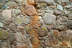 Beautiful wall of ancient fence. Surprizing wall from the stone of ancient fence stock images
