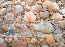 Beautiful wall of ancient fence. Wonderful wall from the stone of ancient fence stock images