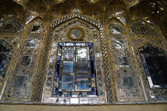 Beautiful wall of Chehel Sotoun Palace in Isfahan,Iran. Chehel Sotoun Palace is a pavilion that was built by Shah Abbas II to be used for his entertainment and Royalty Free Stock Photo