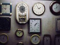 Beautiful Wall Clocks Showing Time royalty free stock images