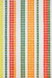 Beautiful wall decorative colorful colorful small mosaic texture, vertical stripes. Decorative colored tiles. Repair of interior. And premises stock image
