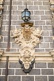 Beautiful wall feature in Granada. A beautifully detailed outdoor wall decoration in Granada, Spain Stock Photo