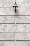 Beautiful Wall Lamp on Cement Wall. Retro Style Stock Photo