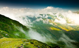Beautiful walley. In Caucasus mountains in Upper Svaneti, Georgia Royalty Free Stock Photos